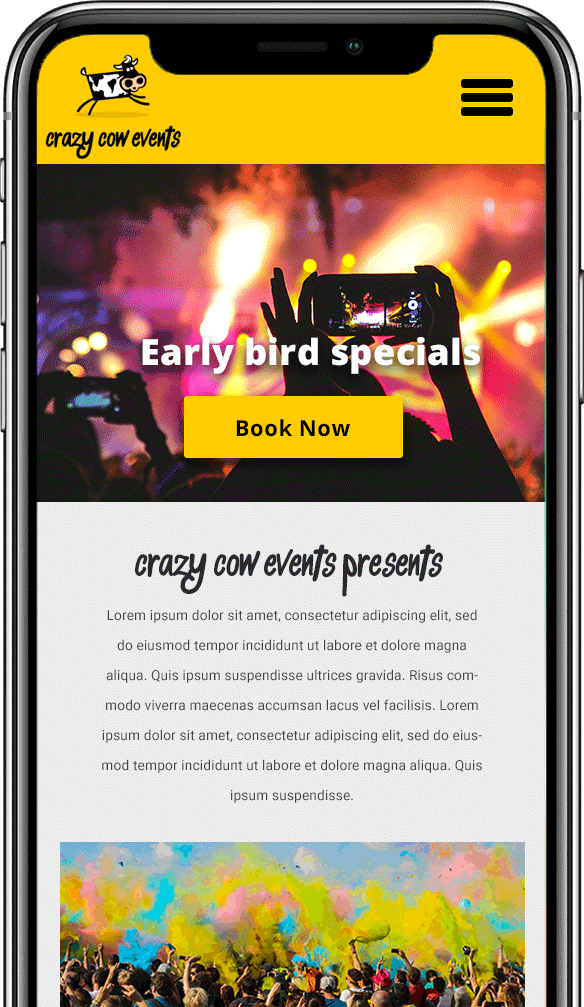 event booking mobile