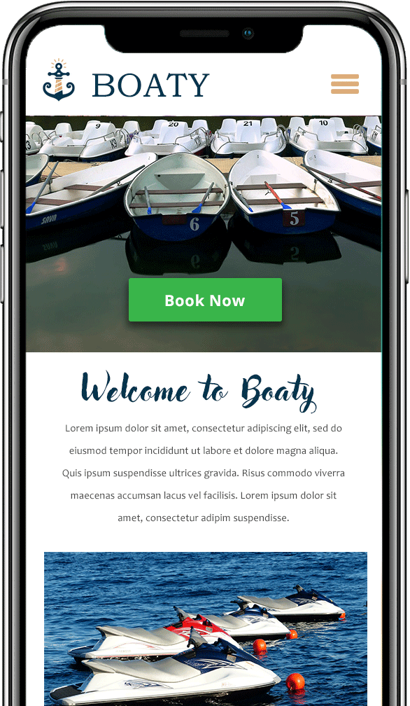 boat rental sortware on iphone