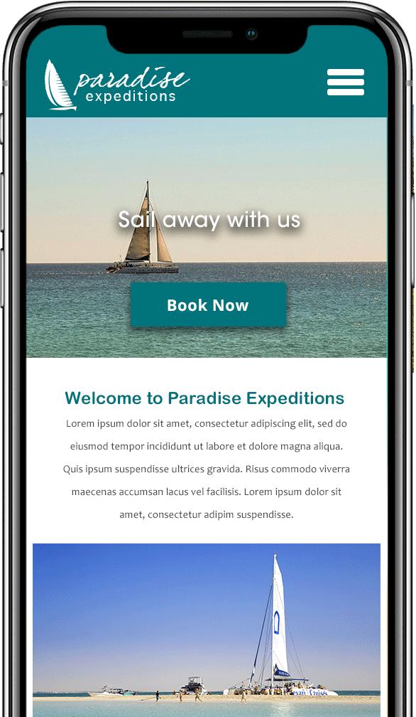catamaran cruise mobile