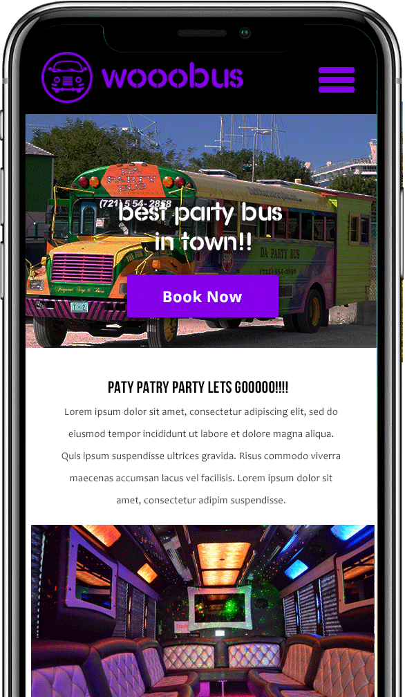 party bus mobile